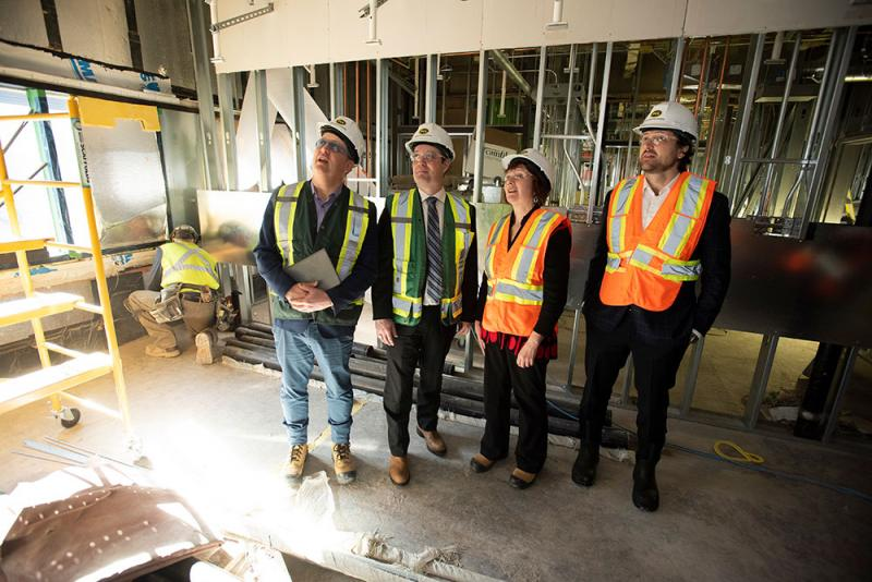 (L-R) Dr. Todd Howlett, Health and Wellness Minister Randy Delorey, Heather Francis and Dr. Alex Mitchell tour the renovations of the Dartmouth General Hospital's fifth floor
